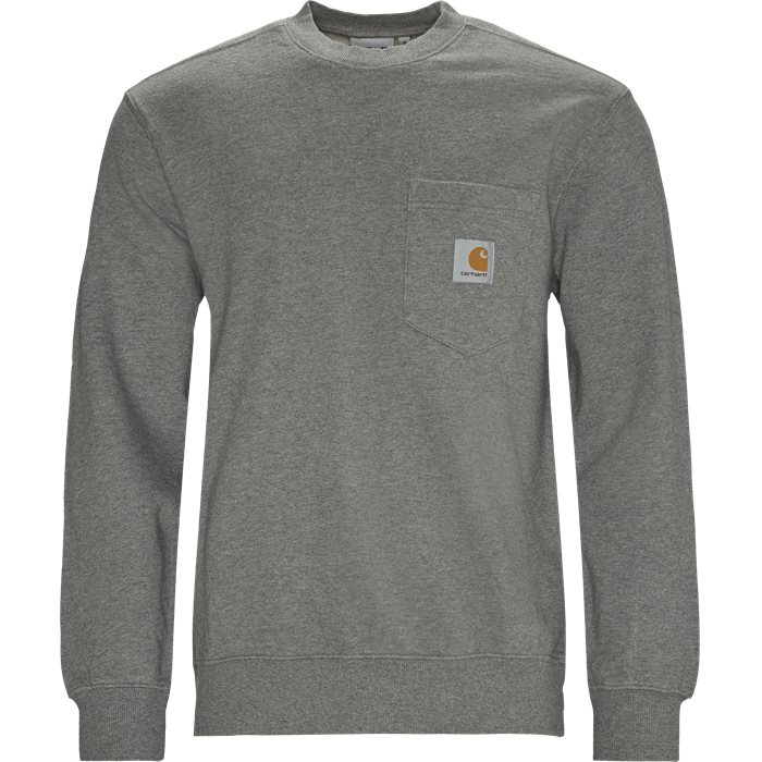 Pocket Sweatshirt - Sweatshirts - Regular - Grå